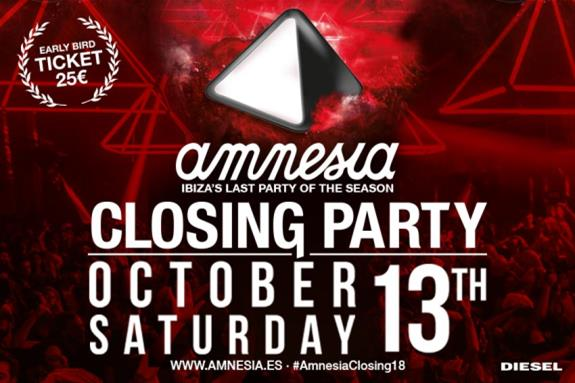 Amnesia Closing Party 2018