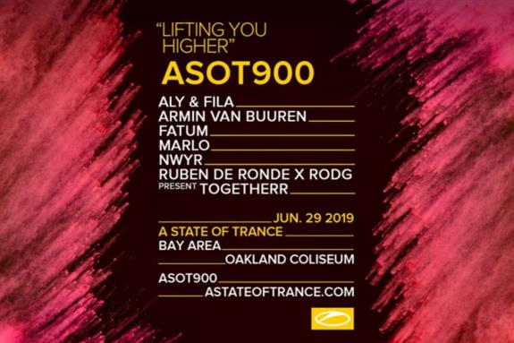 ASOT 900, Oakland-Alameda County Coliseum Bay Area USA 2019