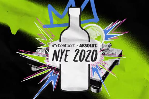Beatport x Absolut NYE 2020 Global Celebration