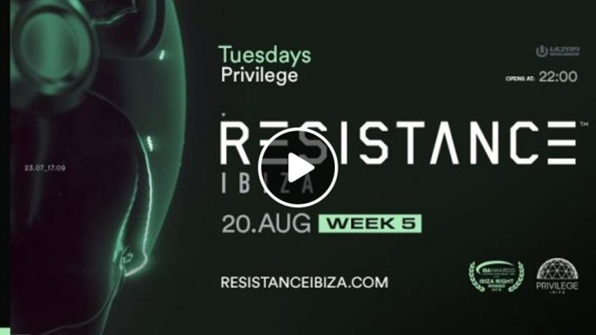 Carl Cox & Joseph Capriati - Live @ Resistance Main Room Week 5, Privilege Ibiza 2019