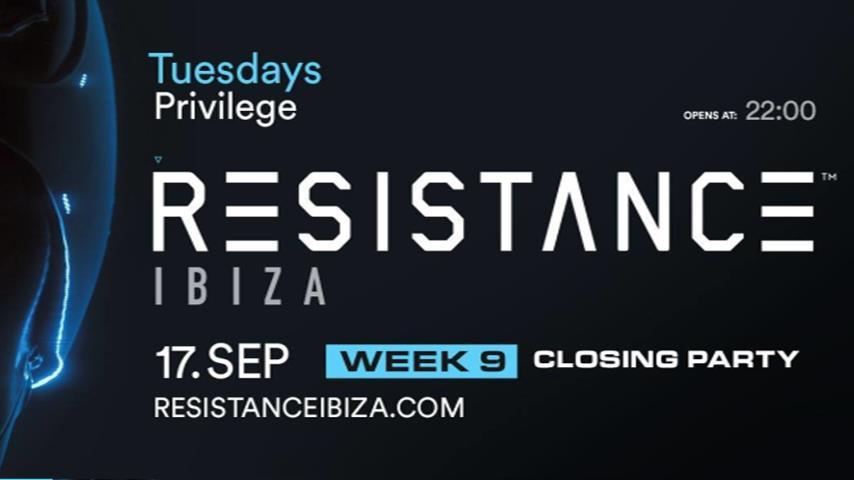 Carl Cox b2b Adam Beyer - Live @ Resistance Week 9 (Closing Party), Privilege Ibiza 2019