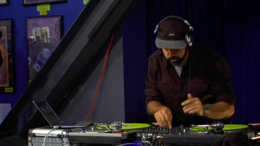 DJ Nu-Mark - Live @ Amoeba Music in Hollywood 2013